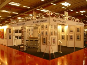 Alutech Messestand auf der Art Fair Europe